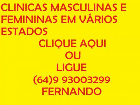 CLINICAS MASCULINAS E FEMININAS PERTINHO DE VOCÊ. A PARTIR DE 800,00